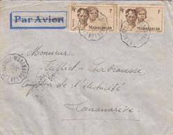 LETTRE MADAGASCAR. 2 JUIN 1947. AMBULANT LAC-ALAOTRA-MORAMANGA N° 1 - Lettres & Documents