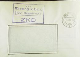 """Fern-Brief Mit ZKD-Kastenstempel """"VEB Energiebau 8122 Radebeul 2"""" Vom 14.10.66 Nach Meissen - Service"""