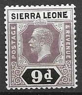 Sierra Leone Mh* Script Watermark 5 Euros - Sierra Leone (...-1960)