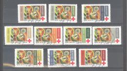 """France Autoadhésifs Oblitérés (Série Complète : Croix Rouge """"rythme, Joie De Vivre"""" Robert Delaunay) (lignes Ondulées) - Used Stamps"""