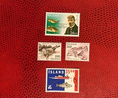 Islande 1980 1982 1989 4v Neuf MNH ** Mi 559 560 767 Pesce Poisson Fish Pez Fische Iceland Island - Peces