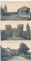 LOT De 3 Cartes De LOYES Entrée Du Château / Les Tours Et La Vieille église / Place Et Les Remparts  ( Recto Verso ) - Sonstige Gemeinden