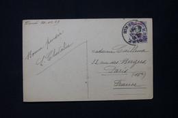 MONG TZEU - Affranchissement Femme Annamite Surchargé Sur Carte Postale En 1929 Pour Paris - L 82956 - Briefe U. Dokumente