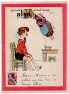 """PUBLICITE. LEVURE ALSACIENNE """" ALSA """"   ILLUSTRATEUR LEROY . - Reclame"""