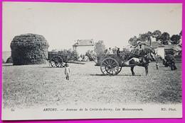 Cpa Antony Avenue De La Croix De Berny Les Moissonneurs Carte Postale 92 Hauts De Seine Rare - Antony