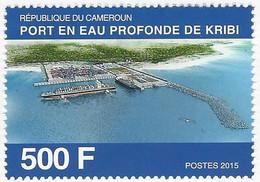 Cameroun Cameroon Kamerun 2015 Kribi Deepsea Harbour Michel 1283 Mint - Kameroen (1960-...)
