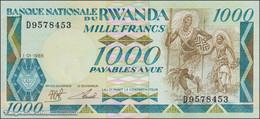 TWN - RWANDA 21a - 1000 1.000 Francs 1.1.1988 Prefix D UNC - Rwanda