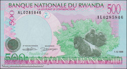 TWN - RWANDA 26b - 500 Francs 1.12.1998 Prefix AL UNC - Rwanda