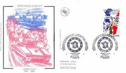 Enveloppe 1er Jour, 60 E Anniversaire Des Débarquements Ds Troupes Alliées Et Libération, 2004, (yt 3675) - 2000-2009