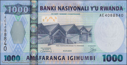 TWN - RWANDA 31 - 1.000 Francs 1.7.2004 Prefix AE UNC - Rwanda