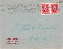 SLOVAKIA - LETTER 26.4.1939 BRATISLAVA > BRNO Mi #24 //Q61 - Storia Postale
