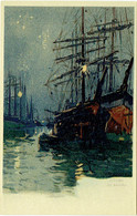 Illustrateur : CASSIERS Henri. Ostende. Les Bassins. - Andere Illustrators