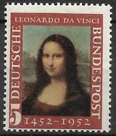 1952 Deutschland Germany  Mi. 148 **MNH 500. Geburtstag Von Leonardo Da Vinci. - Ongebruikt