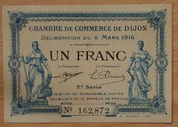 DIJON ( 21  ) 1 Franc Chambre De Commerce De Dijon 6 Mars 1916 - Chambre De Commerce
