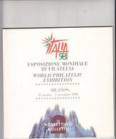 WORLD PHILATELIC EXHIBITION -  MILANO - 1998 - Philately And Postal History