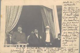 J137 - BELGIQUE - Carte Photo - OOSTENDE - S.A. Léopold II, S.A. Shah De Perse, Grand Vizir Et Le 1er Ministre - Oostende