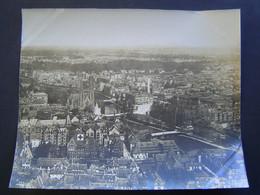 GRANDE PHOTOGRAPHIE AERIENNE Ancienne 1919 : EGLISE SAINT PAUL - HOPITAL / STRASBOURG / ALSACE / BAS RHIN - 67 - Places