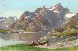 CPA - PAYSAGES De NORVEGE - FJORDS ... Carte Illustrée - Lot De 2 Cartes A SAISIR - Norway