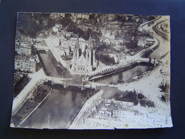 GRANDE PHOTOGRAPHIE AERIENNE Ancienne 1919 : EGLISE SAINT PAUL / STRASBOURG / ALSACE / BAS RHIN - 67 - Places