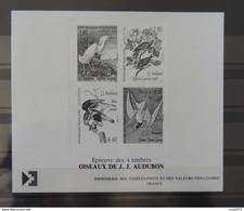 12 - 20 - France - Epreuves Des 4 Timbres Oiseaux De Audubon - Prove Di Lusso