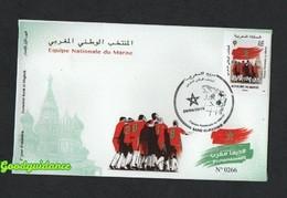 2018- Maroc- Coupe Du Monde De Football- Russie 2018- Fifa - FDC - Morocco (1956-...)