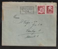 """Deutsches Reich - 1936 - Brief MiF, Stempel """"Saarbruecken-Deutsch Ist Die Saar"""" (E110) - Lettres & Documents"""