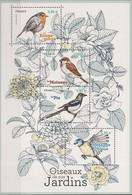 France 2018, Birds From Our Garden, MNH S/S - Nuevos