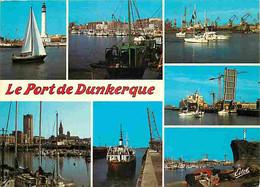 59 - Dunkerque - Le Port - Multivues - Bateaux - Carte Neuve - CPM - Voir Scans Recto-Verso - Dunkerque