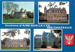 62 - Aire Sur La Lys - Ses Chateaux - Multivues - Blasons - CPM - Voir Scans Recto-Verso - Aire Sur La Lys