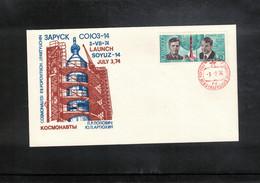 Russia USSR 1974 Space / Raumfahrt Soyuz - 14 Interesting Letter - Russia & USSR