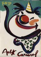 Aalst Karnaval - Kleine Geplastifieerde Affiche (A4 Formaat) Aalst Carnaval 9.02.97 - Carnival