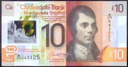 Scotland 10 Pounds 2017 UNC P- 229Q < Clydesdale Bank > Polymer - 10 Pounds