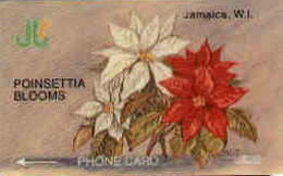 JAMAICA : 002A J$ 20 POINSETTIA BLOOMS DUMMY NO CONTROL ON WHITE MINT - Giamaica