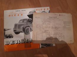 Notice Technique Berliet Camion Rapide Avec Plan Chassis Type 55 - Other Plans