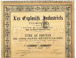LES EXPLOSIFS INDUSTRIELS FULMINITE BREVETS LANDAUER 1892 V.COTATION - Railway & Tramway