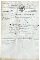 BASTIA / PREFET DU GOLO / 16 Vendémiaire AN XI - 1701-1800: Precursori XVIII