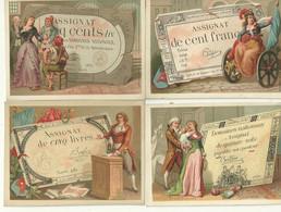 14 Chromo Monnaie Papier Assignats Histoire France Argentine Usa Republique Revolution .... - Andere