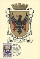 1342 - CENTENAIRE ECOLE HORLOGERIE BESANCON Emblème De L'école 1er Jour 19-6-1962 SUP - 1960-69