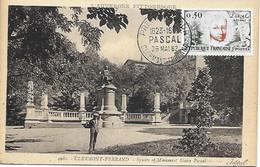 1344 -PASCAL Monument à CLERMONT-FERRAND 1er Jour 26-5-62 (Puy De Dôme)  RARE - 1960-69