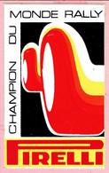 Sticker - CHAMPION DU MONDE RALLY - Pirelli - Stickers