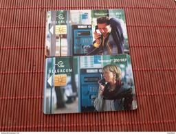 Set 2 Phonecards Cabine Belgacom Used - With Chip