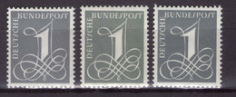BRD 1958 Mi.-Nr. 285 X+Y I+II Kpl. Postfrischer ** Typensatz (A1-097)(..) - Unused Stamps