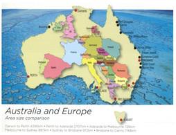 (CC 1) Australia - Map Of Australia - Over EUROPE - Landkaarten