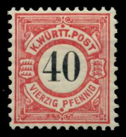 WÜRTTEMBERG Nr 62 Postfrisch X7111EE - Wuerttemberg