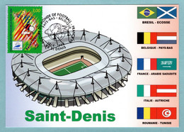 Carte Maximum 1998 - France 98 Coupe Du Monde De Football - Saint-Denis - YT 3131 - 93 St Denis - 1990-99
