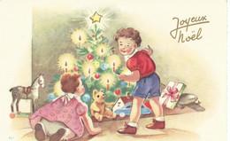 JOYEUX NOEL :110X65 2 Enfants Devant Le Sapin.jpeg - Sin Clasificación