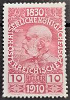 AUSTRIA 1910 - MLH - ANK 166 - 10h - Nuovi