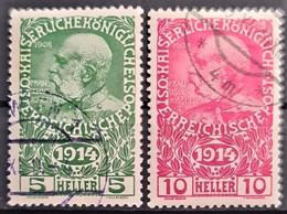 AUSTRIA 1914 - Canceled - ANK 178, 179 - 5h 10h - Usados