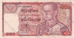 BANCONOTE 100 BAHT TAILANDIA - Thailand