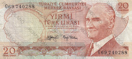 BANCONOTE 20 LIRE TURCHIA - Turkey
